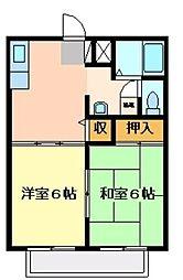 ジュネス高橋 B・C[B101号室]の間取り