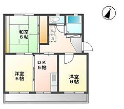 秋山ハイツ A棟[2階]の間取り