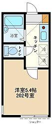 神奈川県相模原市南区東大沼1丁目の賃貸アパートの間取り
