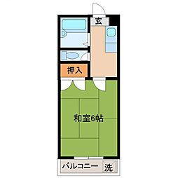 カーサTIKI南宮(カーサチキ)[302号室号室]の間取り