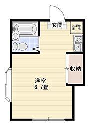 ハイツマルキ[105号室]の間取り