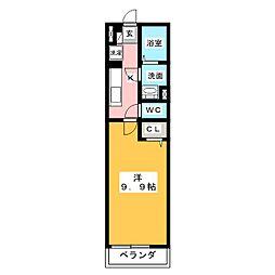 愛知県名古屋市中村区靖国町1丁目の賃貸マンションの間取り
