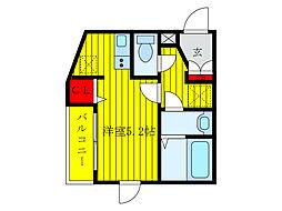 JR京浜東北・根岸線 王子駅 徒歩5分の賃貸マンション 4階1Kの間取り