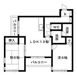 久嶋ハイム[2階]の間取り
