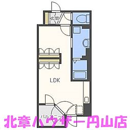 UURコート札幌南三条プレミアタワー[10階]の間取り
