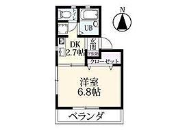 藤川コーポ[101号室]の間取り