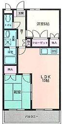 ブルーメハイム[1階]の間取り
