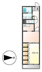 レインボー高蔵[4階]の間取り