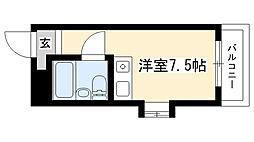 愛知県名古屋市昭和区神村町1丁目の賃貸マンションの間取り