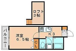 ヴェルデヒルズC[1階]の間取り