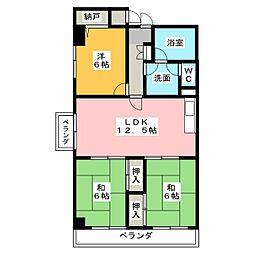 メゾン白菊[5階]の間取り