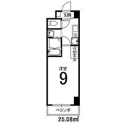 フローライト西院[6階]の間取り