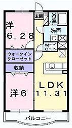 セントラル・アンフィニティC[1階]の間取り
