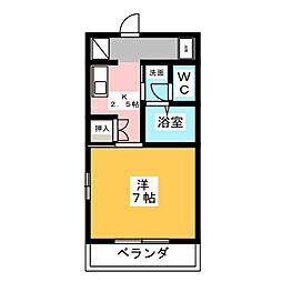 アメニティ藤[1階]の間取り