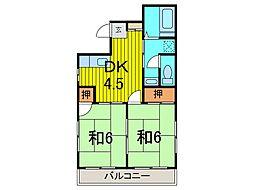 寄川ハイツ[301号室]の間取り