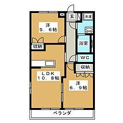 コンフォールメゾン・K[1階]の間取り