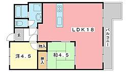 ルークレジデンス姫路II[3階]の間取り