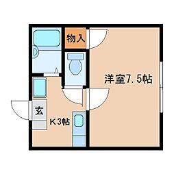静岡県静岡市葵区瀬名中央3丁目の賃貸アパートの間取り
