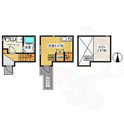 名鉄常滑線 大同町駅 徒歩4分の賃貸アパート 1階ワンルームの間取り