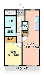 ピーノドゥーエ[3階]の間取り