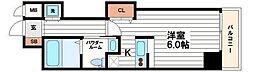 大阪府大阪市中央区高津2の賃貸マンションの間取り