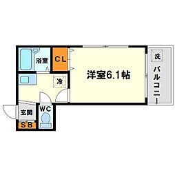 東三国土井マンション[6階]の間取り