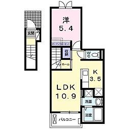 ライトコートナイン[2階]の間取り