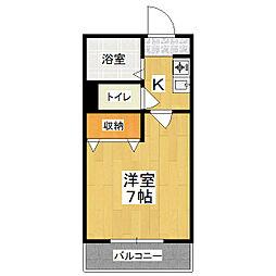 サンシーガルIII[3階]の間取り