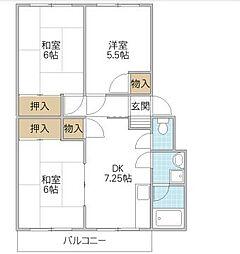 グリーンパークマンション[1階]の間取り
