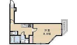 FuMoSe西田辺[204号室]の間取り