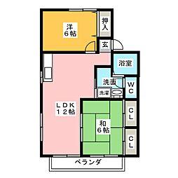 セジュール アイ[1階]の間取り