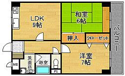 アメニティKSパートII[4階]の間取り