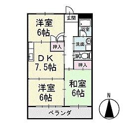 マンション寿 1階[101号室]の間取り