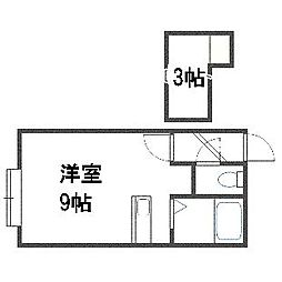 R(アール)[203号室]の間取り