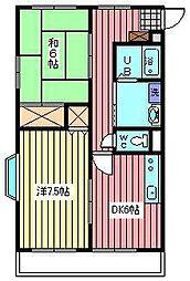 メゾンT−III[203号室]の間取り