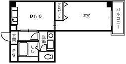大阪府堺市南区檜尾の賃貸マンションの間取り