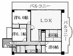 KDXレジデンス夙川ヒルズ[3階]の間取り
