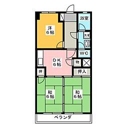 加藤第1ビル[3階]の間取り