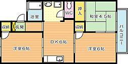 ルナハイツ A棟[2階]の間取り