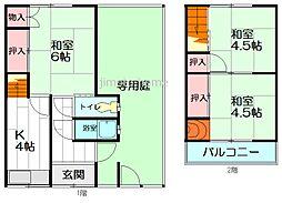 [テラスハウス] 大阪府茨木市春日3丁目 の賃貸【/】の間取り