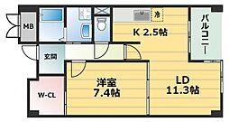 マレ ドゥ カルム[3階]の間取り