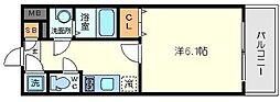 エスリード北大阪レジデンス[8階]の間取り