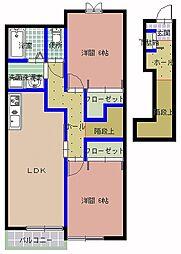 クレンツエントハオスS A棟[2階]の間取り