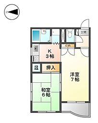M・K平安[9階]の間取り