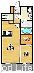 福岡県福岡市博多区比恵町丁目なしの賃貸マンションの間取り