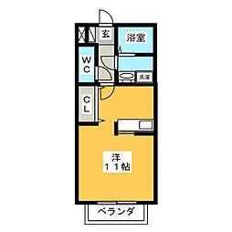 セジュールマルサ[1階]の間取り