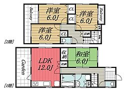 [一戸建] 千葉県千葉市若葉区西都賀5丁目 の賃貸【/】の間取り