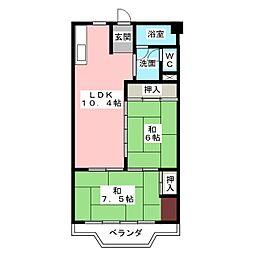 フィレンツェ弥富第一[8階]の間取り