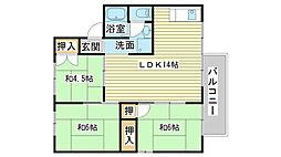 ガーデンハウス[D202号室]の間取り