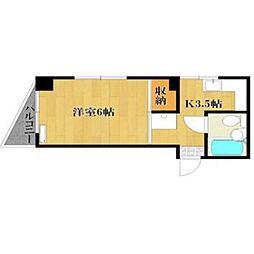 シティハイツ古賀[5階]の間取り